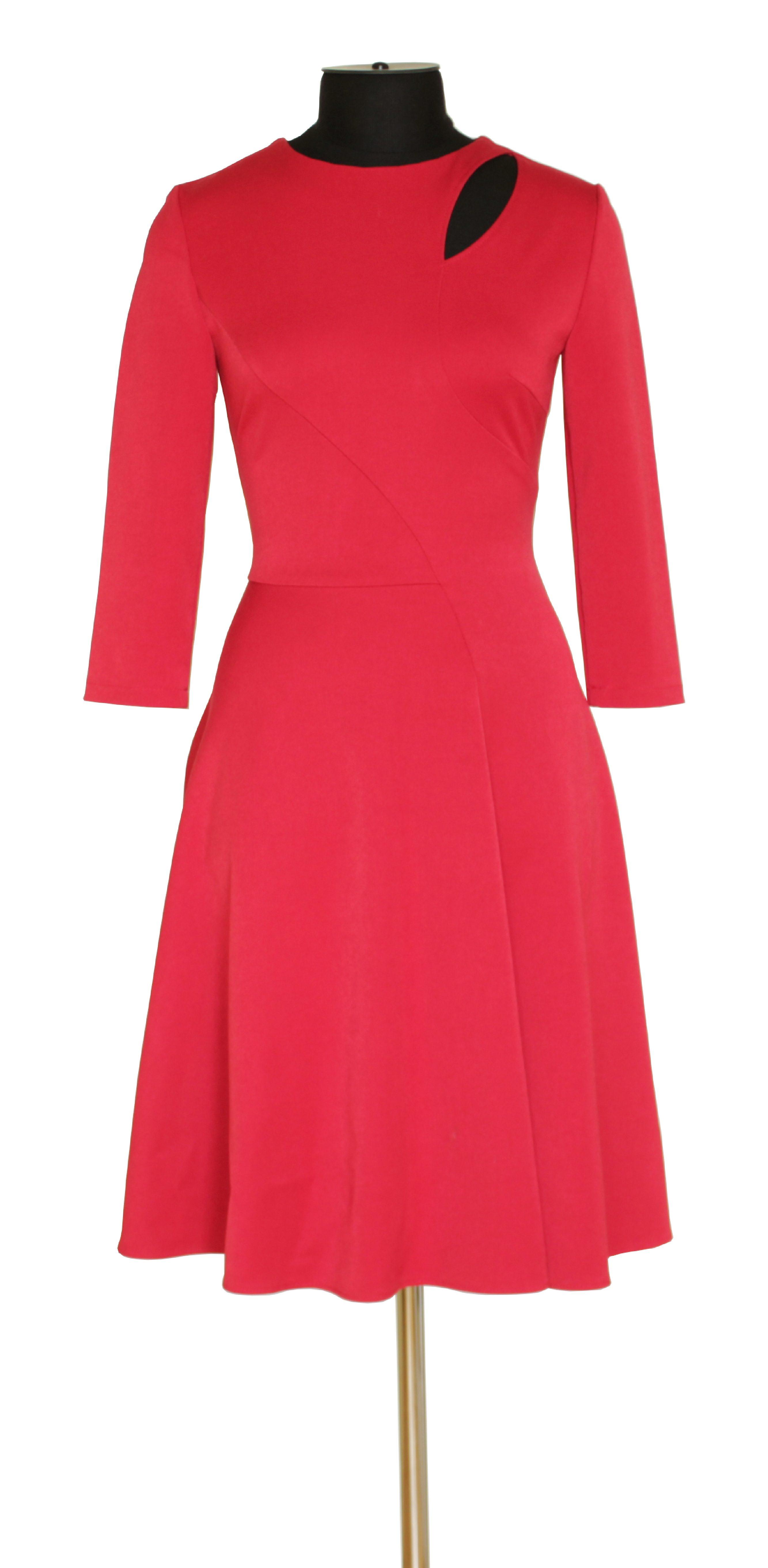 Платье красное перед V2